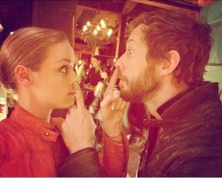 Rachel Skarsten and Kris Holden-Ried